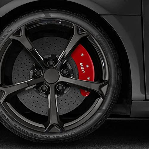 Upgrade Your Auto Set of 4 Front and Rear Red MGP Caliper Covers for 2014-2019 Mercedes CLA250