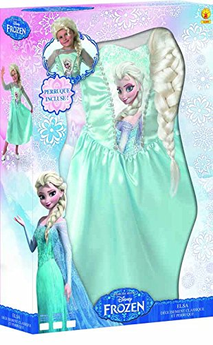 Frozen - Disfraz Elsa Classic con peluca, para niños, 3-4 años (Rubies 154984-S): Amazon.es: Juguetes y juegos