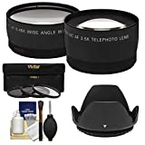 49mm Essentials Bundle with Telephoto & Wide-Angle Lenses + 3 UV/CPL/ND8 Filters + Lens Hood + Cleaning Kit