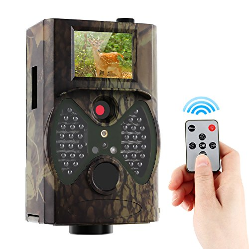 """Trail Game Camera 1080P HD 12MP Outdoor Hunting Camera with Night Vision Waterproof 65ft Motion Activated Infrared Wildlife Camera with 2"""" External LCD Screen"""