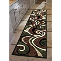 Americana Modern Runner Rug #144 Green (32 In. X 10 Ft.)