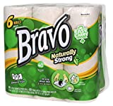 Sellars 54486 Bravo Naturally Strong Paper Towels, Natural (Pack of 24)