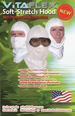 Soft-stretch Spray Foam Painter's Hood Spary Sock, Superior Protection to Disposable Hood and Lower Cost. $1.16 Ea, 50 Per Pack by VitaFlex Soft-stretch Hood (Image #2)