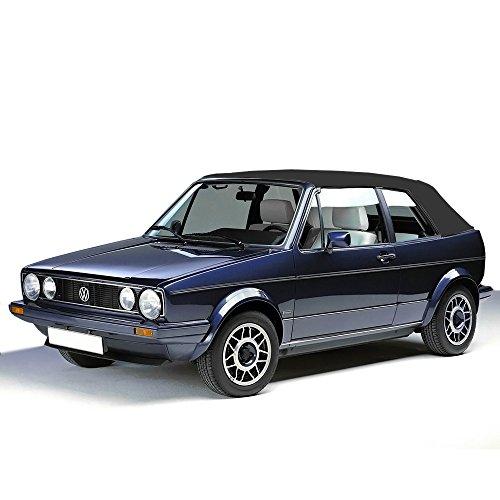 Sierra Auto Tops Convertible Soft Top Replacement, compatible with Volkswagen VW Cabrio 1980-1993, Cabrio Vinyl, Black