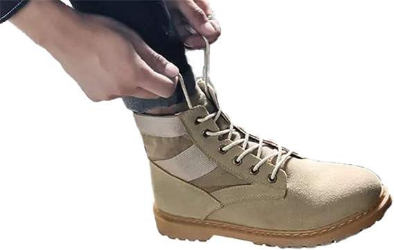 JCNHXD Hombres Senderismo Zapatos de cuero impermeables ...