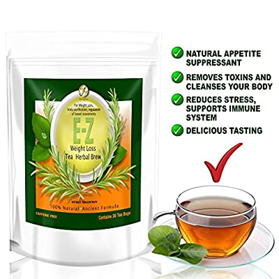 E-Z Detox Tea – Natural Weight Loss, Appetite Control, Body Cleanse. Proven Weight Loss Diet Tea …