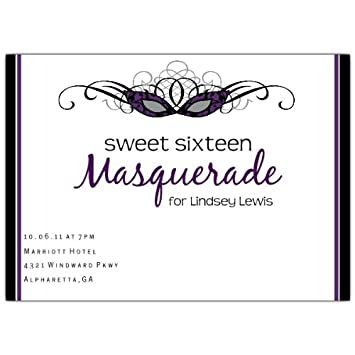 Amazon Masquerade Sweet 16 Invitations Health Personal Care