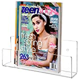Modern Clear Acrylic Wall Mounted Magazine & Brochure Display Rack / Children's Book Holder