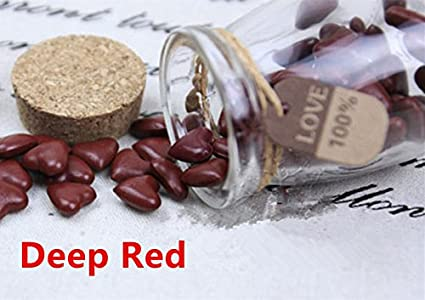 mdlg Vintage piezas de profundidad rojo forma de corazón cristal embotellada para sellado con cera Sello