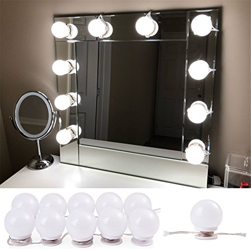 Hollywood Lights Bathroom: Vanity Mirror With Lights Hollywood Makeup Mirror Lighting