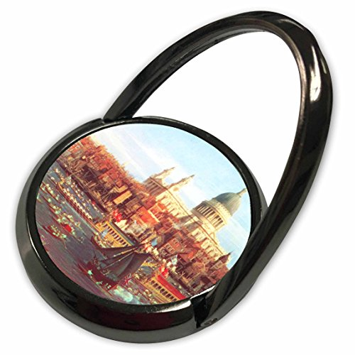 3dRose InspirationzStore Vintage Art - The River Thames with St. Pauls Cathedral on Lord Mayors Day by Canaletto 1747 England London art - Phone Ring - St Thames