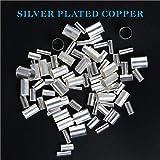 BAPHILE 310PCS Wire Silver Plated Copper Crimp
