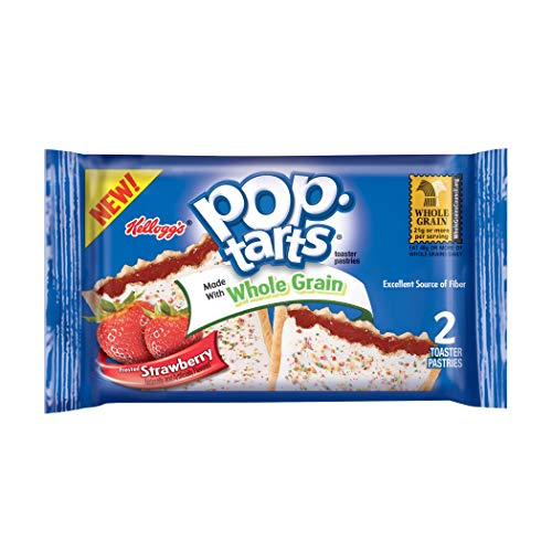 (Pop-Tarts Breakfast Toaster Pastries, Whole Grain Frosted Strawberry Flavored, Bulk Size, 144 Count (Pack of 12, 21.1 oz Boxes))