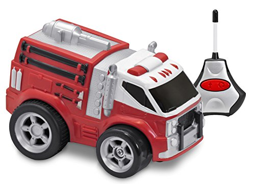 Kid Galaxy Squeezable Remote Control Fire Truck. RC Toy for Preschool Kids Ages 2 and Up, Red - Kid Galaxy Remote