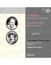 [The Romantic Piano Concerto Vol. 83] Gablenz: Piano Concerto In D-Flat, Op. 25/Paderewski: Polish...