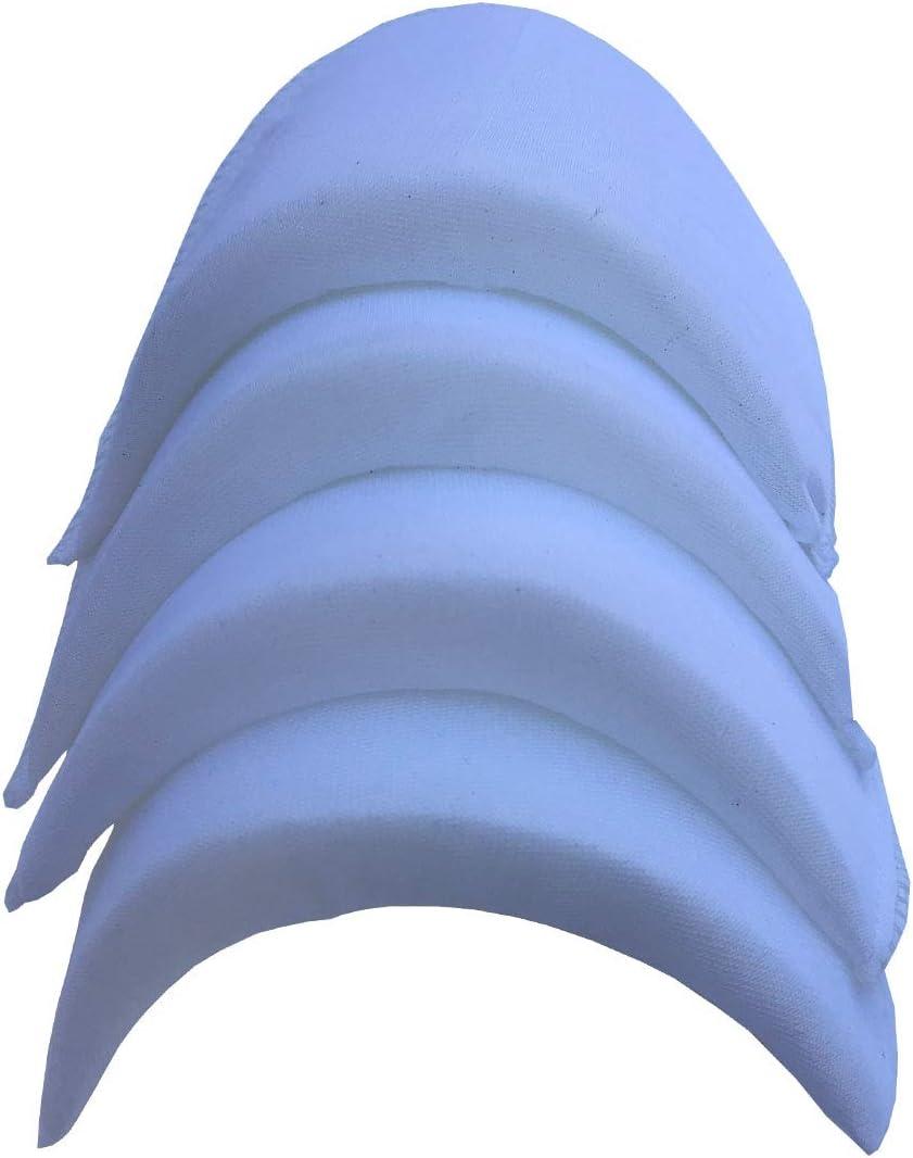 Sponge Shoulder Pad for Foam Encryption for Women Men Jacket Blazer T-Shirt Clothing Dress Sewing Accessories 4pairs Black