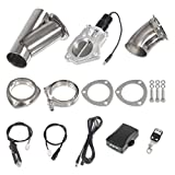 "3"" Electric Exhaust Cutout Dump Stainless Steel Valve Motor Kit Switch w/Remote control"