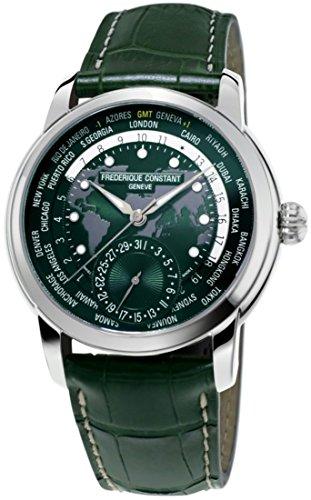 Frederique Constant Classic Manufacture Green Worldtimer FC-718GRWM4H6