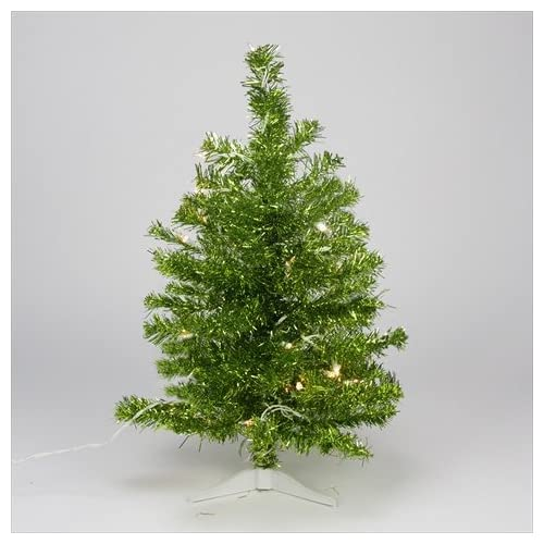 northlight pre lit pardise lime green tinsel pine artificial christmas tree with clear lights - Pre Lit Christmas Trees Amazon