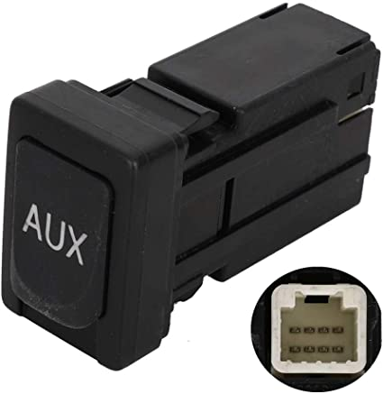 Reeoutdoor 86190-02010 Aux Jack Port fit Tacoma Corolla Tundra Aux Port Auxiliary Input Jack Stereo Adapter Assembly 86190 02010