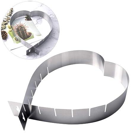 Moldes de acero inoxidable con forma de corazón para hornear ...