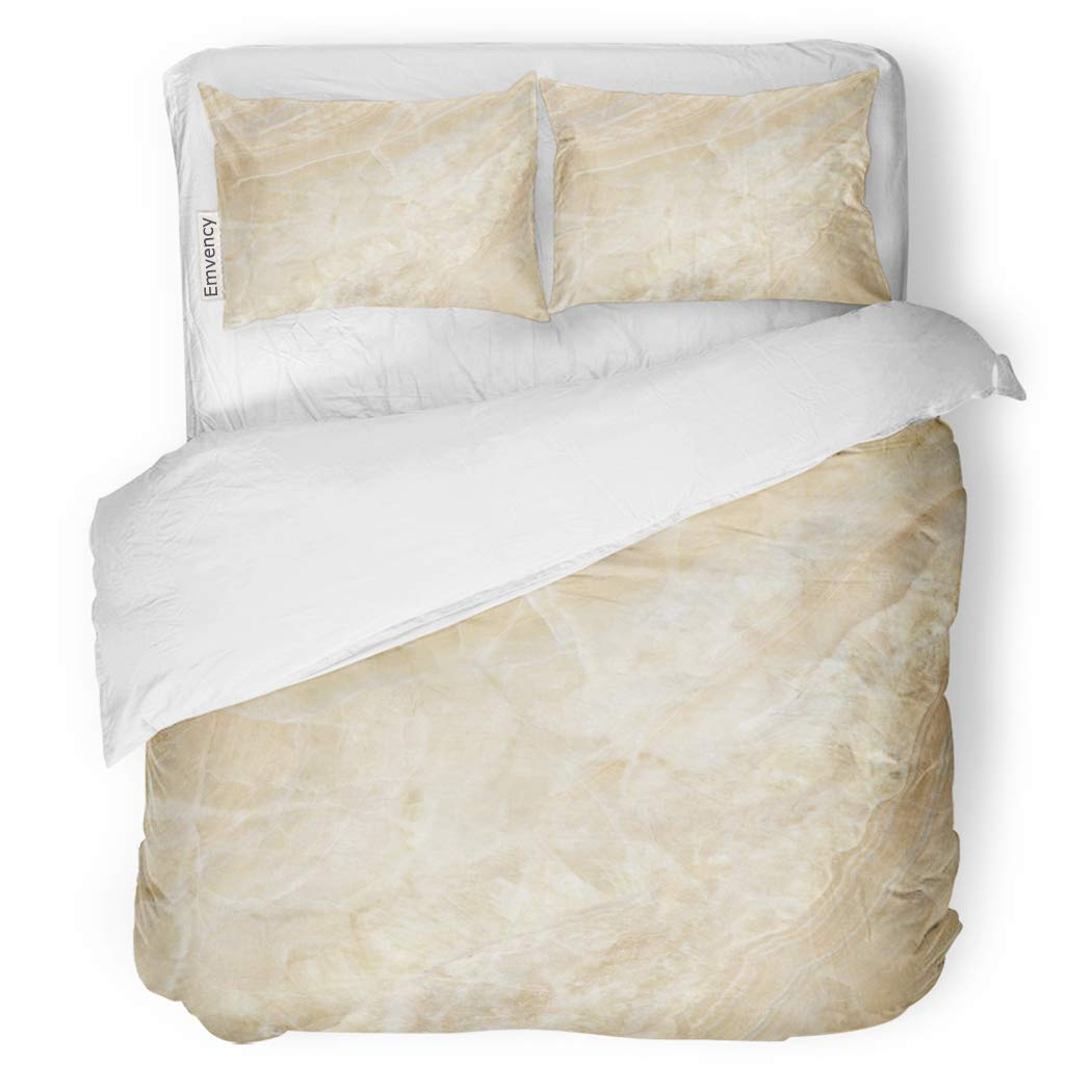 SanChic Duvet Cover Set Stone Natural Marbles and Quartzite Wall Abandoned Blank Decorative Bedding Set with 2 Pillow Shams King Size