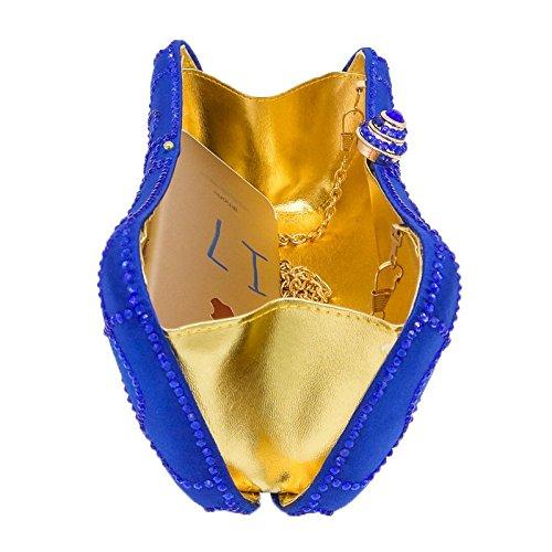 Sac De De Banquet De De Dames Dîner De Main Soirée Strass D'oreiller Mode Sac Chaîne Purple Sac De Sac De De Satin Sac D'embrayage à Diamant 0w7tqqP