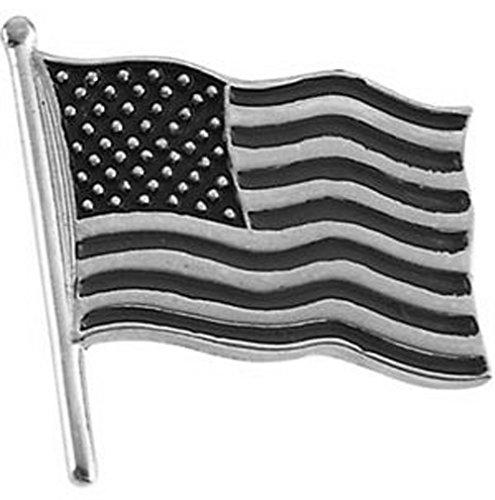 14.50x14.00 mm Plain American Flag Lapel Pin in 14K Yellow Gold 14k Yellow Gold Lapel Pin