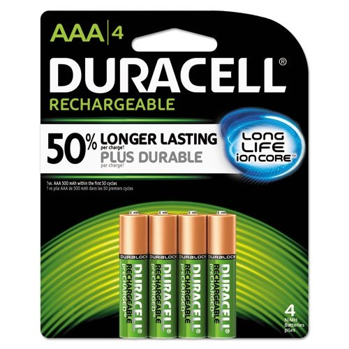 Duracell Rechargeable  AAA Batteries - 4 Count
