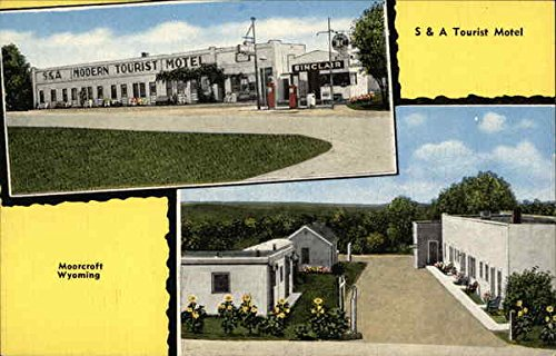 S & A Tourist Motel Moorcroft, Wyoming Original Vintage Postcard