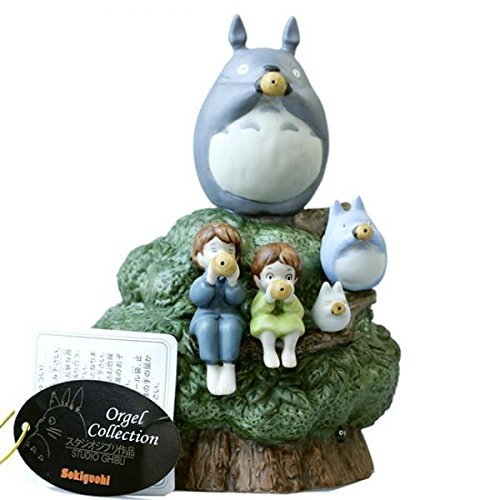 Studio Ghibli My Neighbor Totoro Ceramic Music Box (Playing Ocarinas)