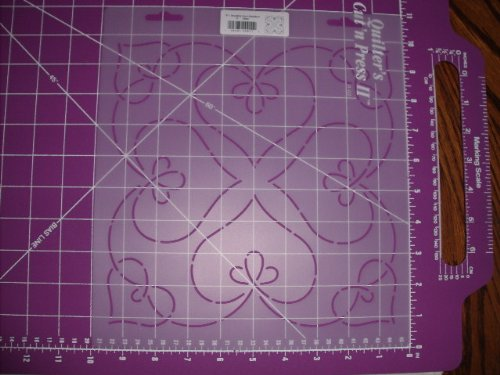 (Bleeding Heart Medallion Quilting Stencil)