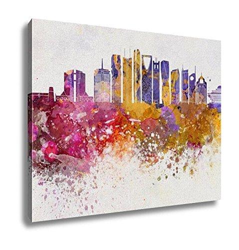 Ashley Canvas, Riyadh V2 Skyline Artistic Abstract In Watercolor, 20x25, AG6251575