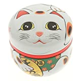 1 Pc Japanese White Maneki Neko 100g Tea Canister #499-556