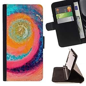 "For HTC One Mini 2 M8 MINI,S-type Sun Wave Surf Verano Mar Rad"" - Dibujo PU billetera de cuero Funda Case Caso de la piel de la bolsa protectora"