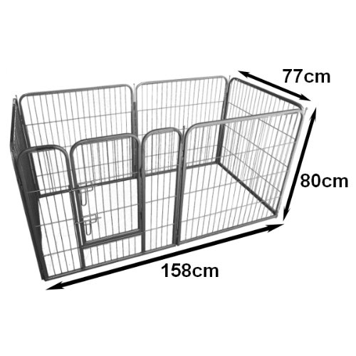 Ellie-Bo Heavy Duty Modular Puppy Exercise Play/Whelping Pen, 158 x 77 x 80 cm 6 Pieces by Ellie-Bo (Image #1)