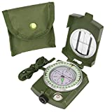 CASON (DEVICE OF C) High Accuracy Metal Waterproof Military Compass for Directions , 8 X 6.5 x...