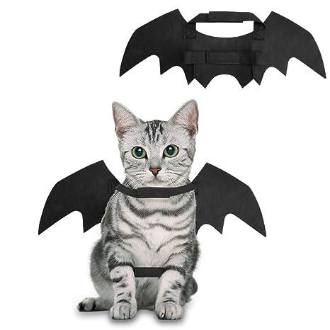 Comcreate Disfraz de Navidad para Mascotas, Vestido, Bate, alas, diseño de Batman