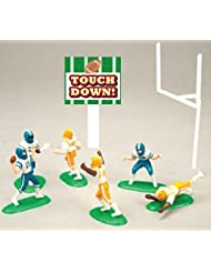 Miniature Football Players Party Cake / Cupcake Decoration Toy Topper Kit