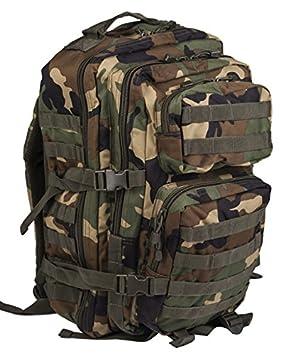 Mil-Tec Tactical - Mochila militar modular, mod. 50 sistema de resortes - Woodland: Amazon.es: Deportes y aire libre