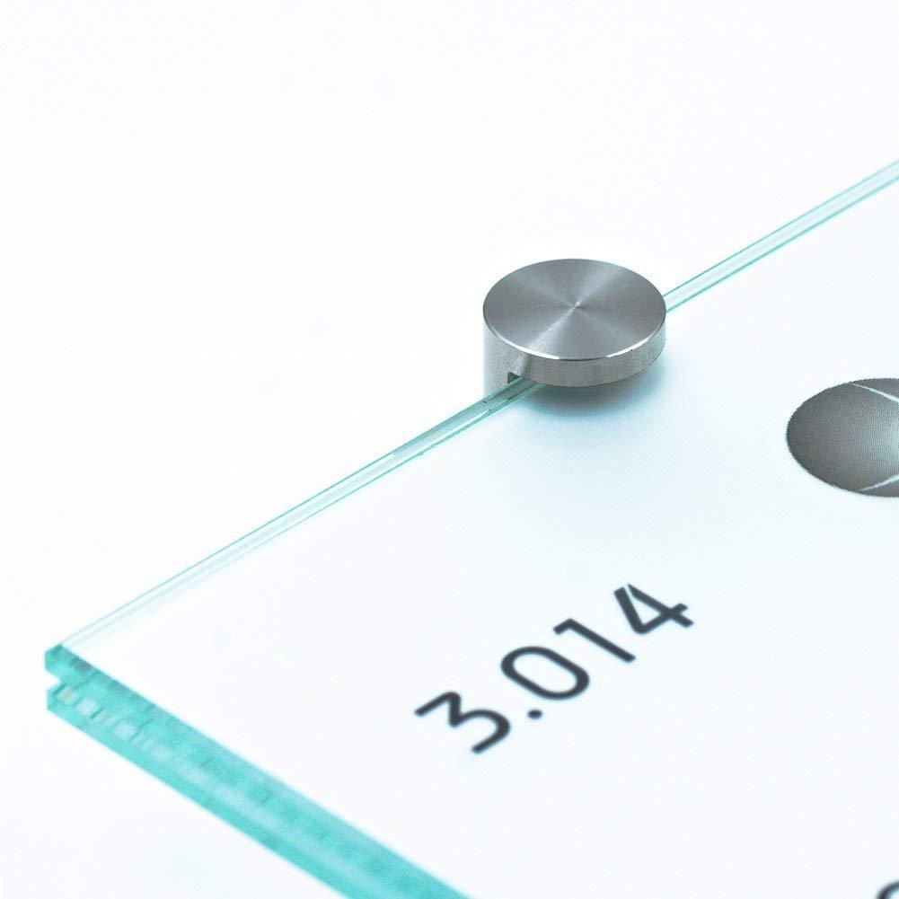 Klemmhalter Schildhalter 10 mm Edelstahl 4er Set Klemmbefestigung Glasklemme