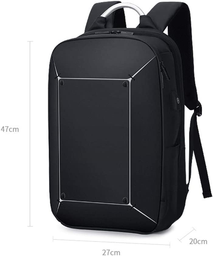 YAXuan Fashion Laptop Backpack Multi-Function Durable Travel Backpack with USB Charging Port Stylish Anti-Theft School Bag Fits 15 Inch Laptop Comfort Pack for Women /& Men Black