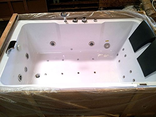 two person indoor whirlpool massage white bathtub tub with bluetooth free remote control and inline water heater recessed bathtubs