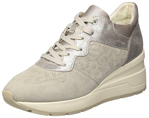 EU Basses C Sneakers Lt Zosma Gris Geox Off Elfenbein 37 Grey White Femme wzqtn551