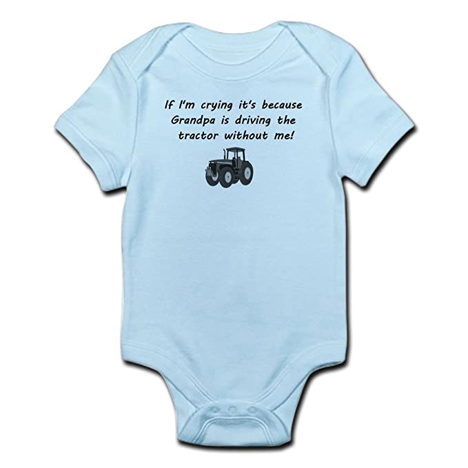 38f43f27680a Amazon.com  CafePress Grandpa Driving Tractor Body Suit Baby ...
