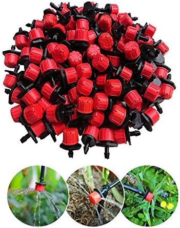Landrip 100 Bewässerung Tropfer Sprinkler, Einstellbar Micro Flow Tropfbewässerung Drip 8-Loch-Emitter Bewaesserung Sprinkler Bewaesserung Tropf Tropf System