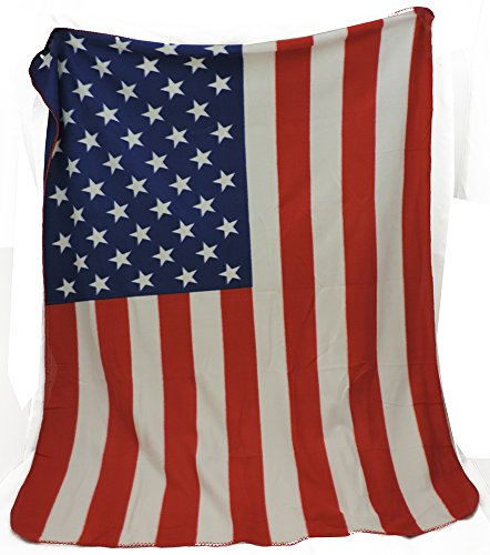 Super Soft Fleece US Flag Throw Blanket