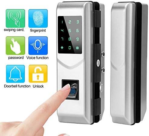 電気スマートドアロック、指紋パスワードICカードキーレスデジタルセキュリティガラスドアロックオープナー