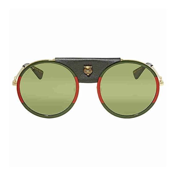 7a48e96494f Gucci GG0061S GREEN RED GREEN women Sunglasses  Amazon.co.uk  Clothing