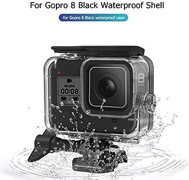 TOHHOT Electrónica Estuche Sumergible bajo el Agua de 60 m para GoPro Hero 8 Carcasa Protectora Carcasa Negra Filtros de Lentes de cámara Juego de natación de Buceo: Amazon.es: Electrónica